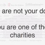 She is not your donor. You are one of her charities.